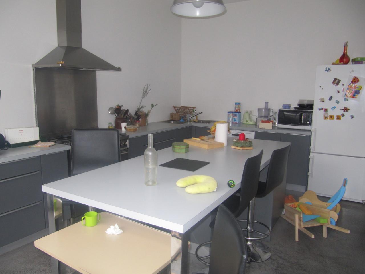cuisine ilot sans meuble haut