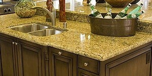 A granite kitchen countertop.