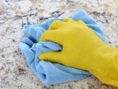 Hand cleaning granite