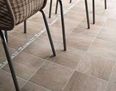 Bakery Tiles in the color Rye are suitable for a patio installation