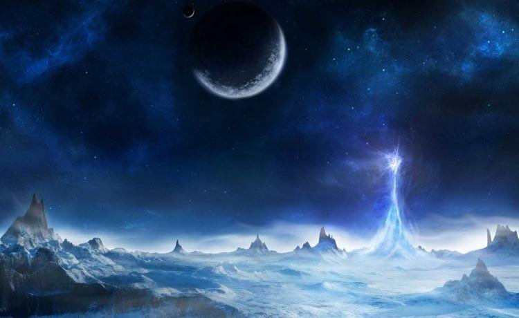Космический сказочный пейзаж.