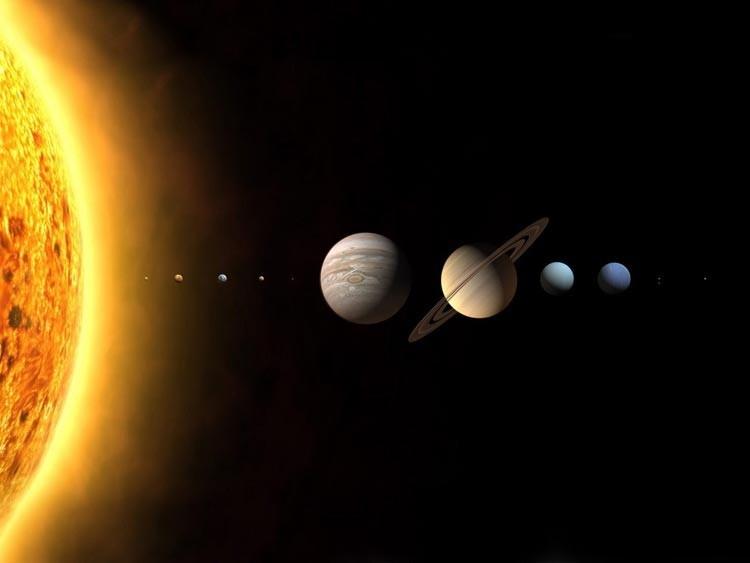 Наша солнечная система и пропорции в ней.