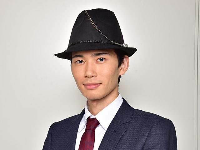 帽子で登場という新たな一面を見せた厚谷昇汰。