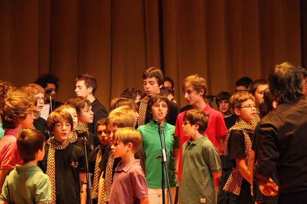 Avec les Petits Chanteurs d'Asnières pour leur 5° anniversaire