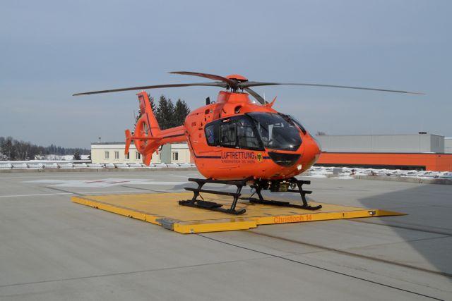 Hubschrauberlandeplattform mit Antirutschfarbe