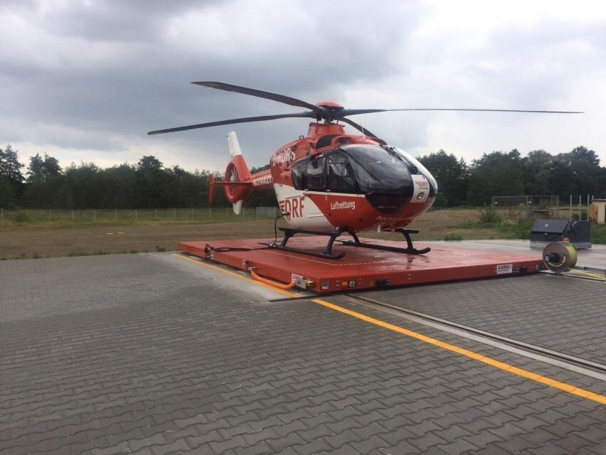 Hubschrauberlandeplattform beschichtet mit Protectakote