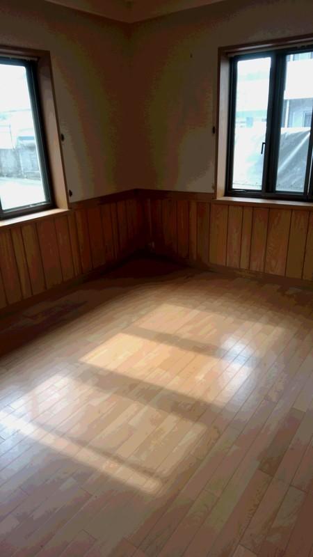 不用品回収後の部屋写真