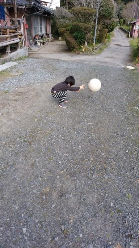 ボールで遊ぶ子供の写真