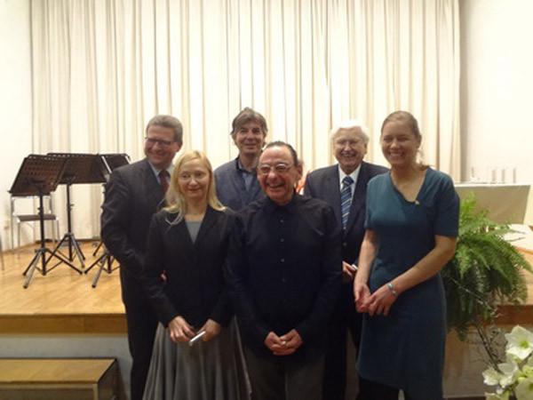 vorne v. li: Barbara Neuwirth, Armin Baumgartner, Lisa Dyk; dahinter v. li: Hermann Dikowitsch, Stefan Gmünder, Winfried Leisser