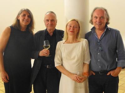 Die Podium-Mitglieder Helmut Peschina, Barbara Neuwirth, Harald Friedl und das Jurymitglied Dr.in Alexandra Millner