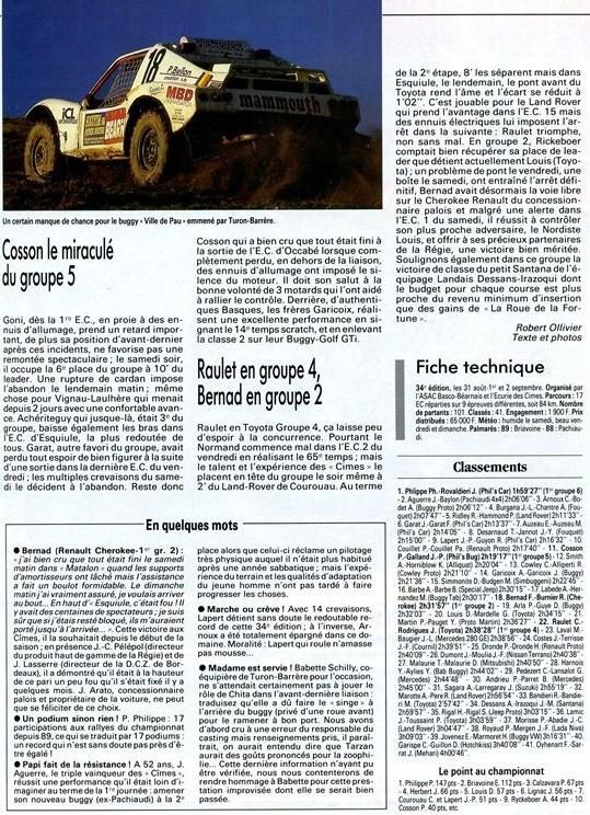 1990 - Rallye des Cimes