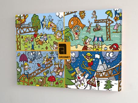 Van Bun Communicatie en Vormgeving - Gepersonaliseerde illustratie op canvas - Arcomet