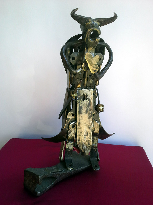 Samouraï en croix 47 cm - 10 kg