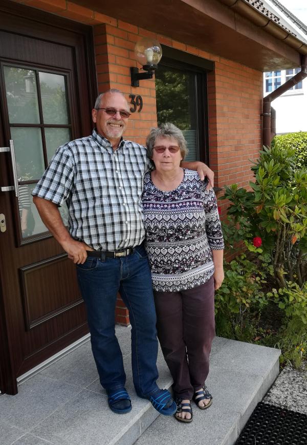 Rita und Uwe zur Goldenen Hochzeit im Juli2020