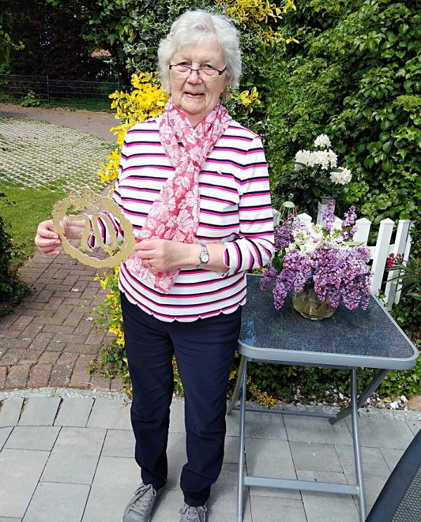 ...unsere Ehrenvorsitzende Helga Thode