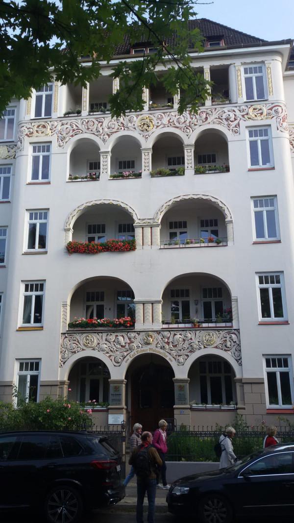 wunderschöne Gebäude am Schrevenpark