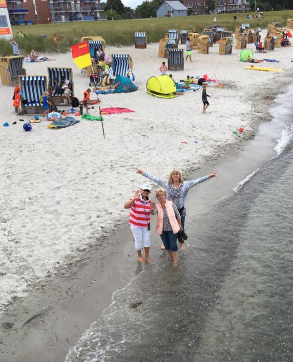 ... kurze Erfrischung am Schönberger Strand