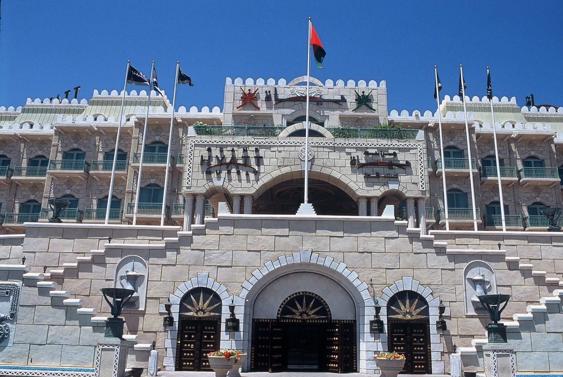 Das imposante Grand Hyatt Hotel in Muscat
