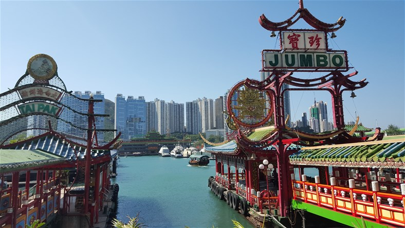 Floating restaurants, Hongkong Island