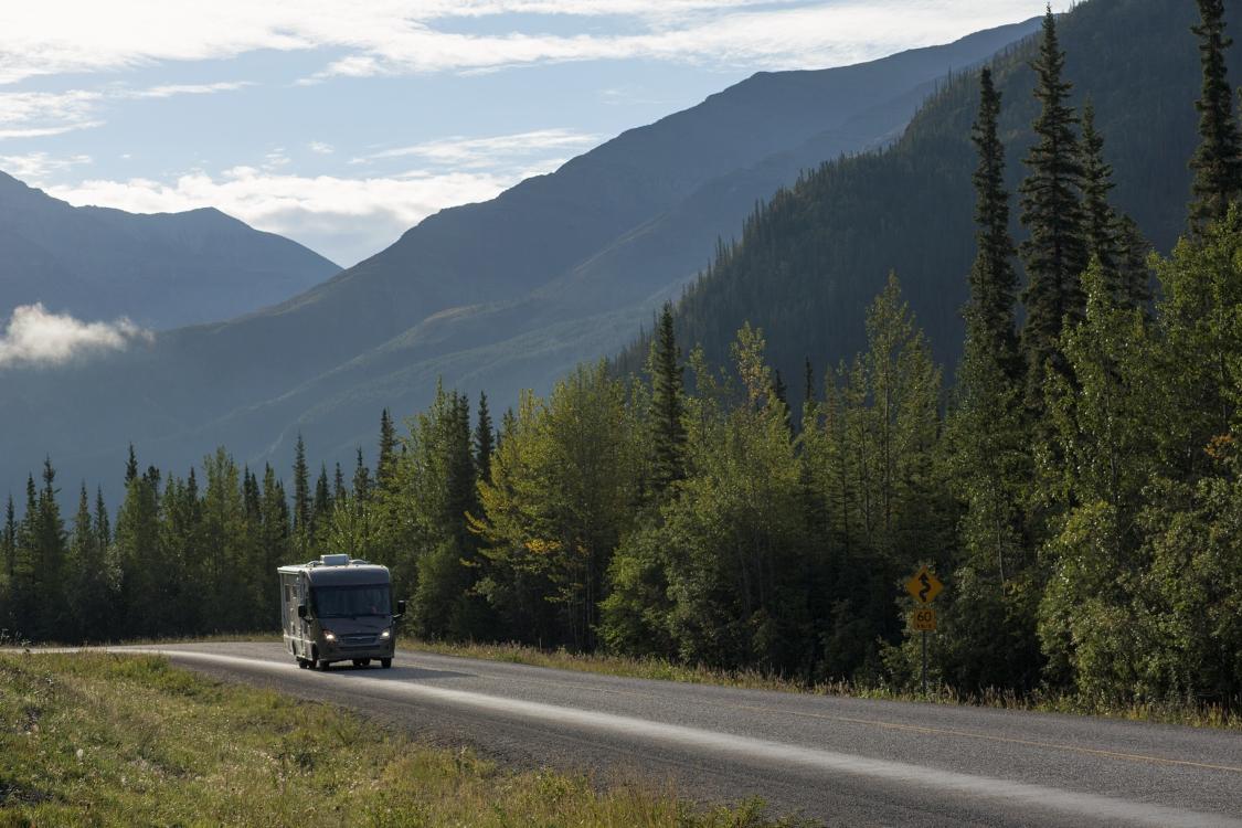 auf dem Alaska Highway