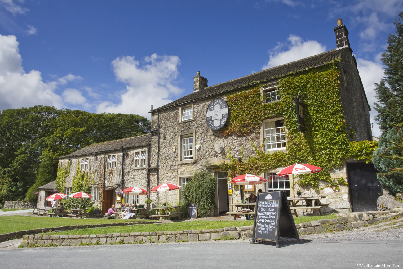 The Lister Arms public house in Malham, Yorkshire Dales National Park