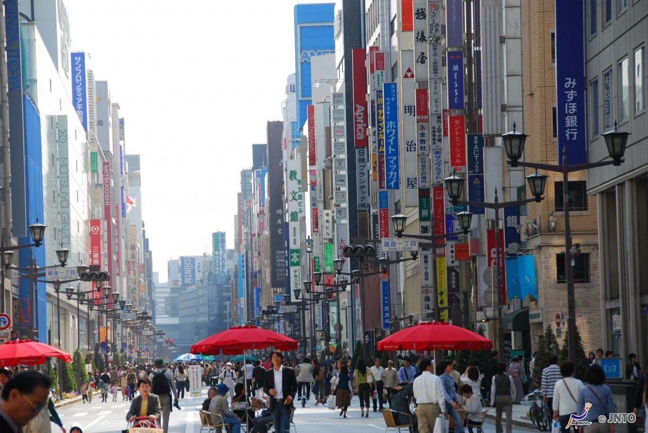 Ginza, das bekannteste Einkaufsviertel von Tokyo