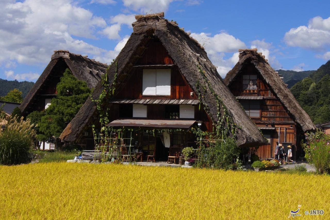 Historisches Dorf bei Shirakawa, Honshu