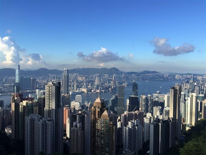 Abendstimmung über Hongkong vom Victoria Peak