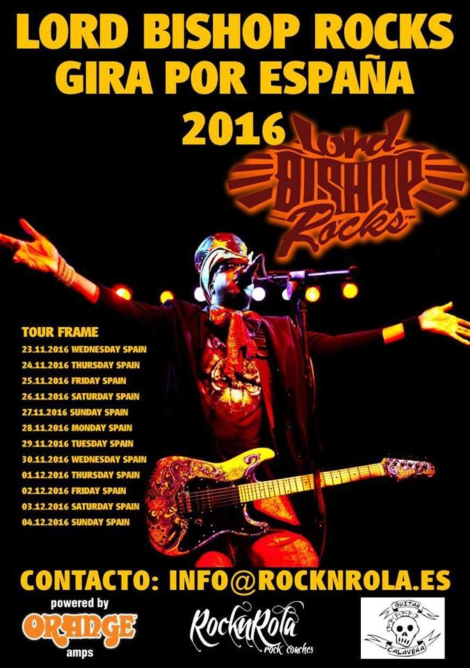 Lord Bishop Rocks Gira Por Espana - 12/2015