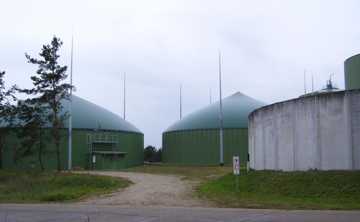 Fermenter einer Biogasanlage Quelle: ZH-Blitzschutz