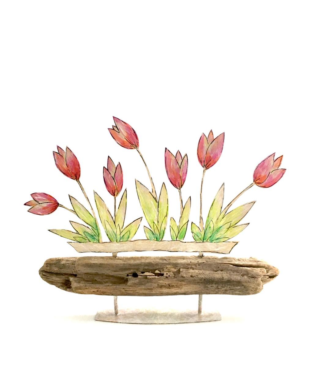 "Objekt ""Tulpen"" 15 x 19 cm"