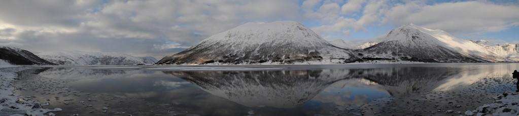 Panorama: Landschaft nordwestlich Tromsö