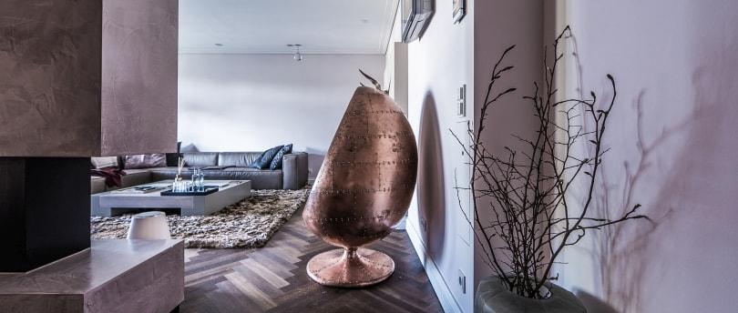 Futuristisches Interieur Design