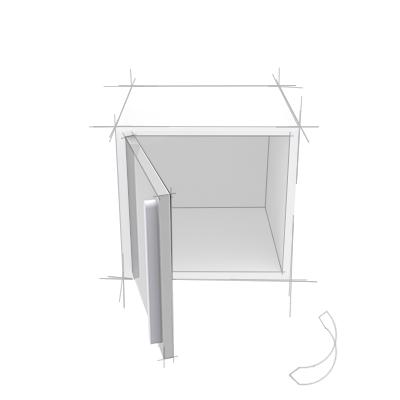 Skizze Regalfach Türen