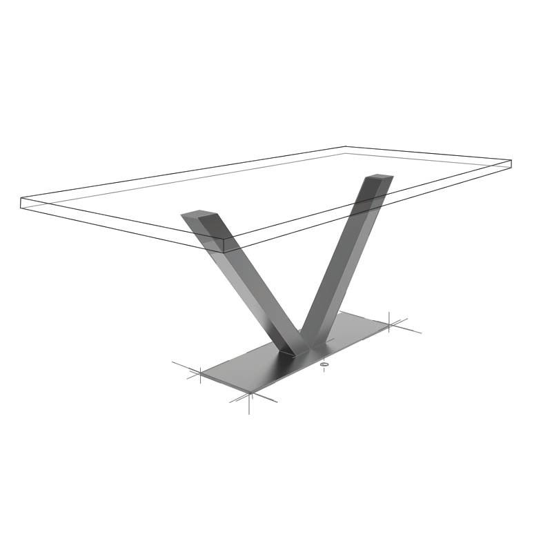 Möbelloft, Moebelloft, V8, Tisch auf Maß, Tisch selber konfigurieren, Tisch selber gestalten, Designtisch, Designertisch, Tischgestell auf Maß, Tischgestell auf Wunsch, Tischgestell selber designen, Stahlgestell, Holzgestell, Essen, Düsseldorf, NRW