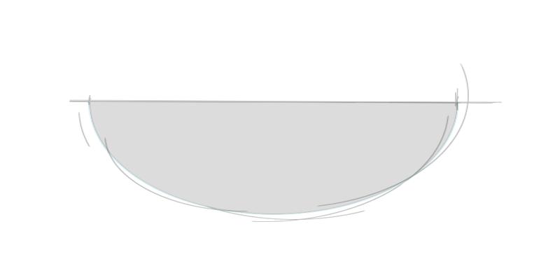 Waschtischplatte halbelliptisch
