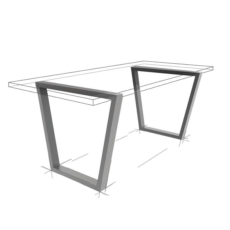 Möbelloft, Moebelloft, Trapez, Tisch auf Maß, Tisch selber konfigurieren, Tisch selber gestalten, Designtisch, Designertisch, Tischgestell auf Maß, Tischgestell auf Wunsch, Tischgestell selber designen, Stahlgestell, Holzgestell, Glasgestell, Essen, NRW