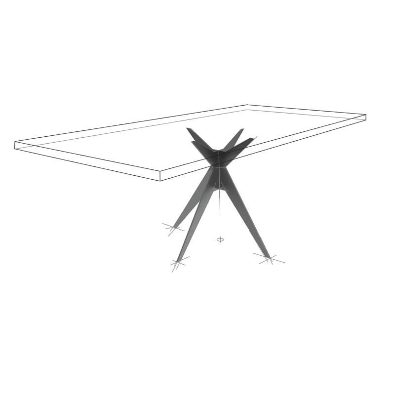 Möbelloft, Moebelloft, Polarstern, Tisch auf Maß, Tisch selber konfigurieren, Tisch selber gestalten, Designtisch, Designertisch, Tischgestell auf Maß, Tischgestell auf Wunsch, Tischgestell selber designen, Stahlgestell, Holzgestell, Glasgestell, Essen