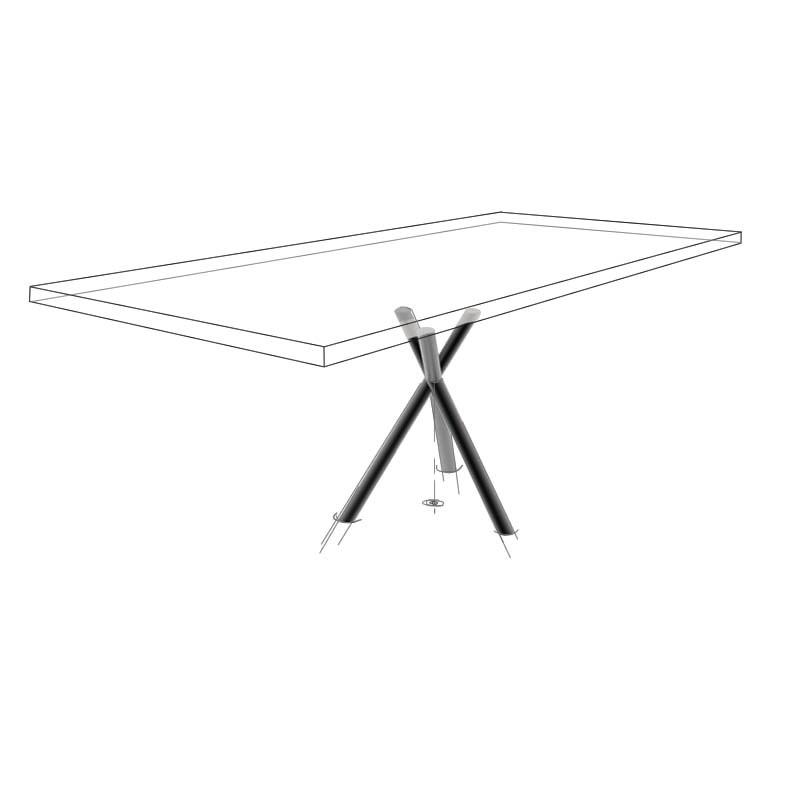Möbelloft, Moebelloft, Pinocchio, Tisch auf Maß, Tisch selber konfigurieren, Tisch selber gestalten, Designtisch, Designertisch, Tischgestell auf Maß, Tischgestell auf Wunsch, Tischgestell selber designen, Stahlgestell, Holzgestell, Glasgestell, Essen