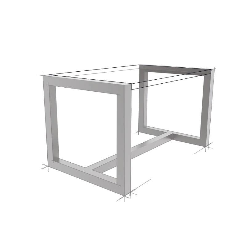 Möbelloft, Moebelloft, Flying Quader, Schwebende Tischplatte, Tisch auf Maß, Tisch selber konfigurieren, Tisch selber gestalten, Designtisch, Designertisch, Tischgestell auf Maß, Tischgestell auf Wunsch, Tischgestell selber designen, Stahlgestell