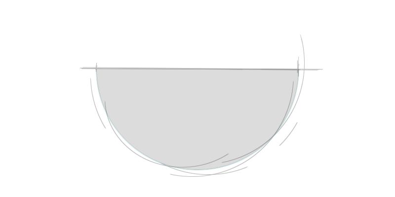 Waschtischplatte halbrund