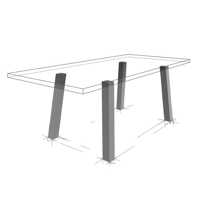 Möbelloft, Moebelloft, Grazil, Tisch auf Maß, Tisch selber konfigurieren, Tisch selber gestalten, Designtisch, Designertisch, Tischgestell auf Maß, Tischgestell auf Wunsch, Tischgestell selber designen, Stahlgestell, Holzgestell, Glasgestell, Essen, NRW