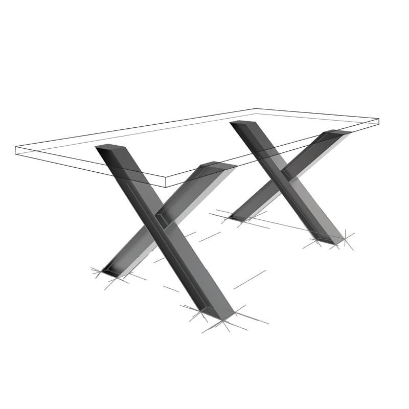 Möbelloft, Moebelloft, X Loft, Tisch auf Maß, Tisch selber konfigurieren, Tisch selber gestalten, Designtisch, Designertisch, Tischgestell auf Maß, Tischgestell auf Wunsch, Tischgestell selber designen, Stahlgestell, Holzgestell, Glasgestell, Essen, NRW