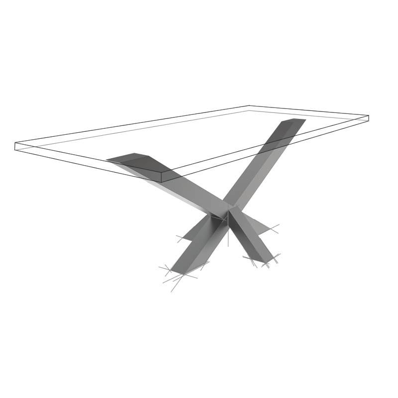 Möbelloft, Moebelloft, Stern, Tisch auf Maß, Tisch selber konfigurieren, Tisch selber gestalten, Designtisch, Designertisch, Tischgestell auf Maß, Tischgestell auf Wunsch, Tischgestell selber designen, Stahlgestell, Holzgestell, Glasgestell, Essen, NRW