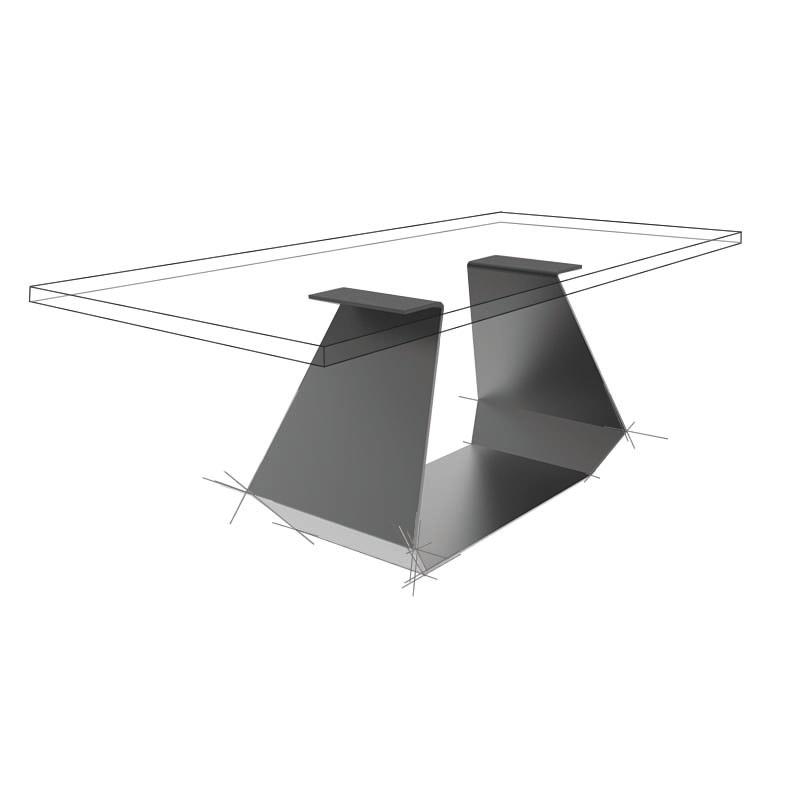 Möbelloft, Moebelloft, Titan, Tisch auf Maß, Tisch selber konfigurieren, Tisch selber gestalten, Designtisch, Designertisch, Tischgestell auf Maß, Tischgestell auf Wunsch, Tischgestell selber designen, Stahlgestell, Holzgestell, Glasgestell, Essen, NRW