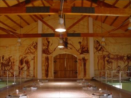 建屋内の壁画(古代トラキアの物語)