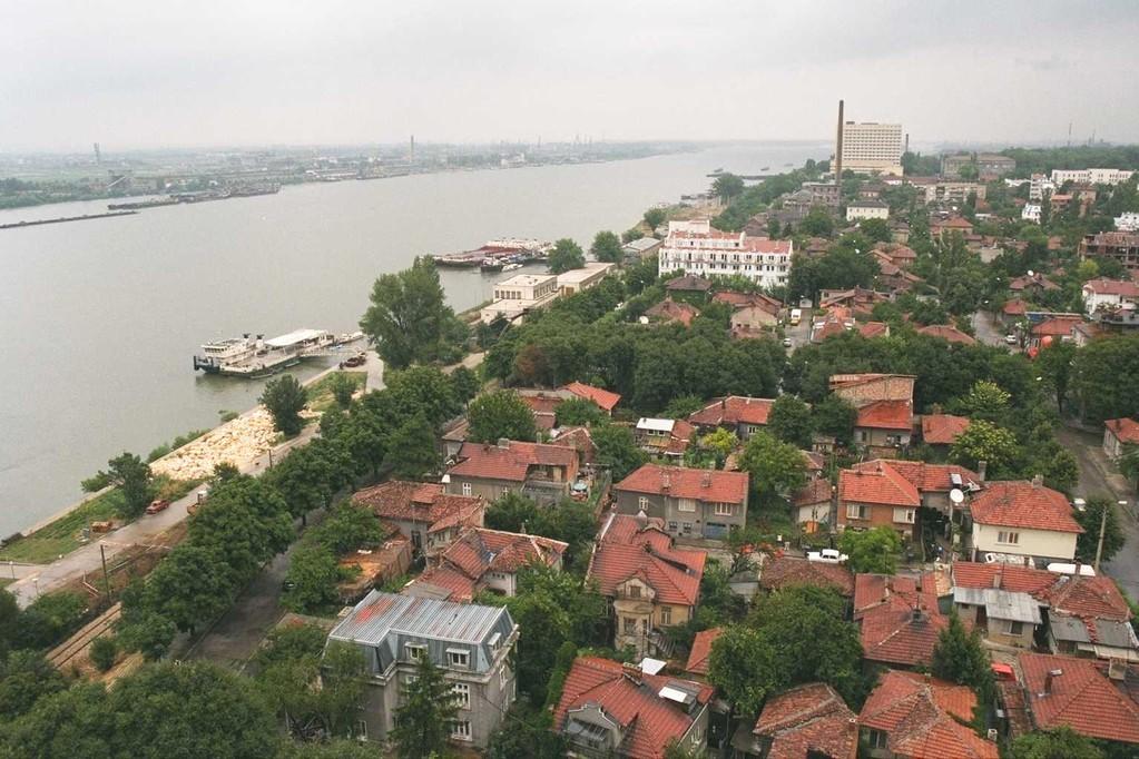 ドナウ川に面したルセの街並み