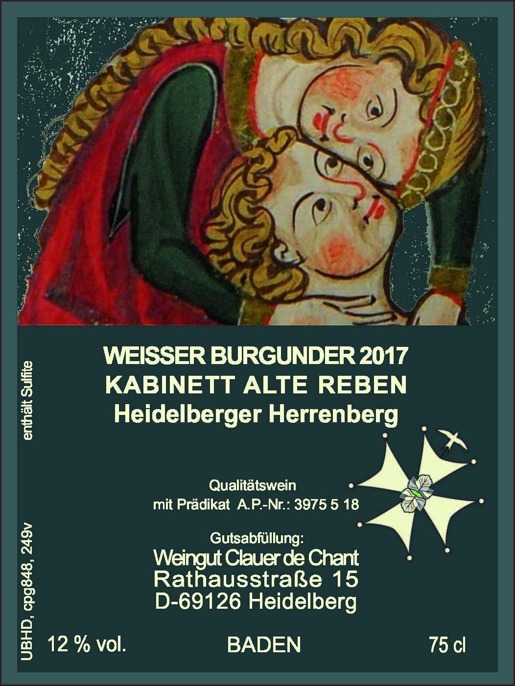 Weisser Burgunder; ausgeprägtes Terroir; Internationale Auszeichnung durch Vinum Schweiz; Goldmedaille Deutschland