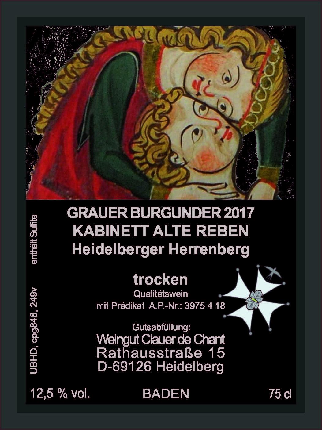 Grauer Burgunder; ausgeprägtes Terroir, Silbermedaille Deutschland