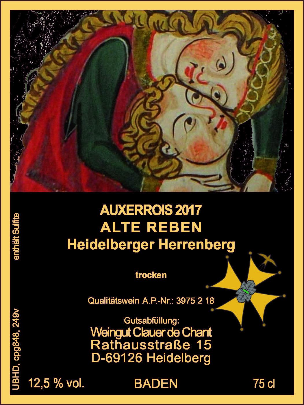 Auxerrois der Spitzenklasse; Internationale Auszeichnung durch Vinum Schweiz; Goldmedaille Deutschland